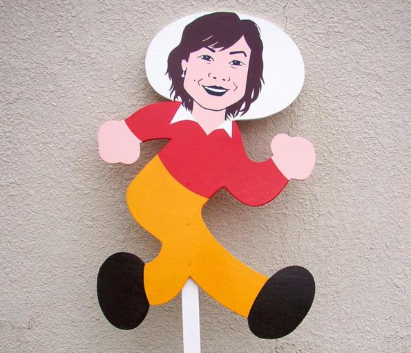 「あさイチ」の顔、有働由美子キャスターが飛び出し坊やに・・・